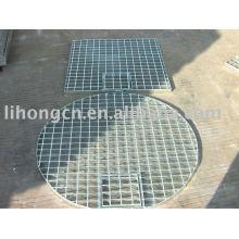 Round steel grating