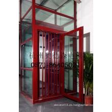 Lujo vista panorámica / panorámica del ascensor de vidrio interior, ascensor de villa, ascensor para el hogar, precio barato de China fabricante