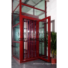 Luxo vista panorâmica / vidro panorâmico elevador interior, elevador de casa de campo, elevador para casa, preço barato a partir de China fabricante
