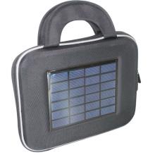 Nice design sunpowered solar tablet bag with 2200mah battery
