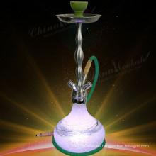 Comprar LED crepitar vaso de vidrio cachimba, shisha, nargile, China hookah fábrica, precio barato, de alta calidad, HL364