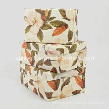 Juguetes cosméticos joyería organizador de almacenamiento de papel caja de regalo