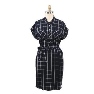 Summer Dress Loose Short Sleeve Dress With Belt