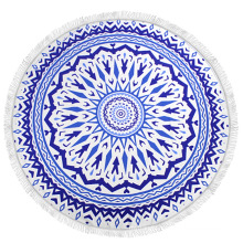 Popular Australian Perfect blue color large round beach towels for Beach and Travel