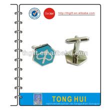 Metall Manschettenknopf mit blauem Farbdesign