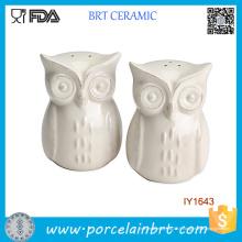 Pot à épices en céramique blanc Owl