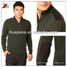 100% кашемир мужская кабель вязать свитер