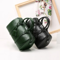 Green Crocodile PU Leather Boston Handbag Tote Bags