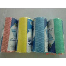 Non Woven Household Cleaning Wipes / Hand Towel Rolls 25*28