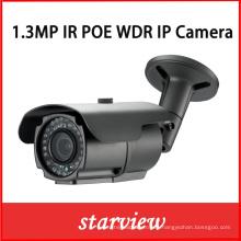 1.3MP IP Poe WDR IR al aire libre Bullet Cámara de seguridad CCTV