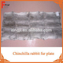 Top quality natural fur chinchilla rabbit plate for coat