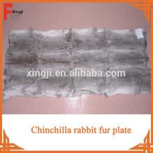 Высокое качество натуральный мех кролика шиншиллы пластина для пальто