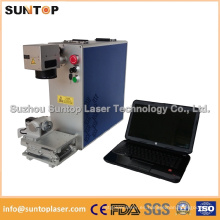 Marcador del laser del metal / marcador portable del laser de la pequeña fibra / máquina laser de la marca del metal