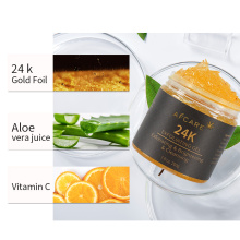 Skin Care Soothing Moisturizing and Exfoliating 24K Gold Gel for Face Cleaning