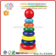 Niños arco iris de madera Stacker Tower Classic juguetes