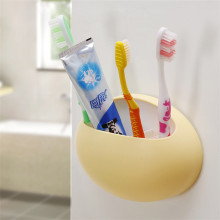 Wall Mount Plastic Simple Bath Toothbrush Holder