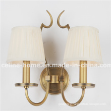 Classical Iron Wall Lamp with Fabric Shade (SL2016-2B)