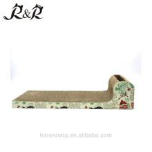 Scratcher de chat de tapis de sommeil de chat brun de haute qualité avec jouer le jouet CT-4006