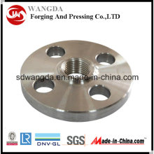 High Precision CNC Machining Galvanised Carbon Steel Flange