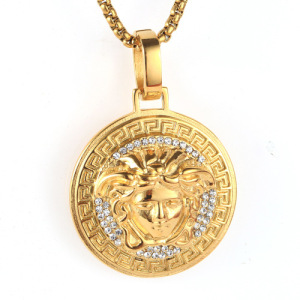 Gold Plating Pendants Facing Left Girl Head Pendant