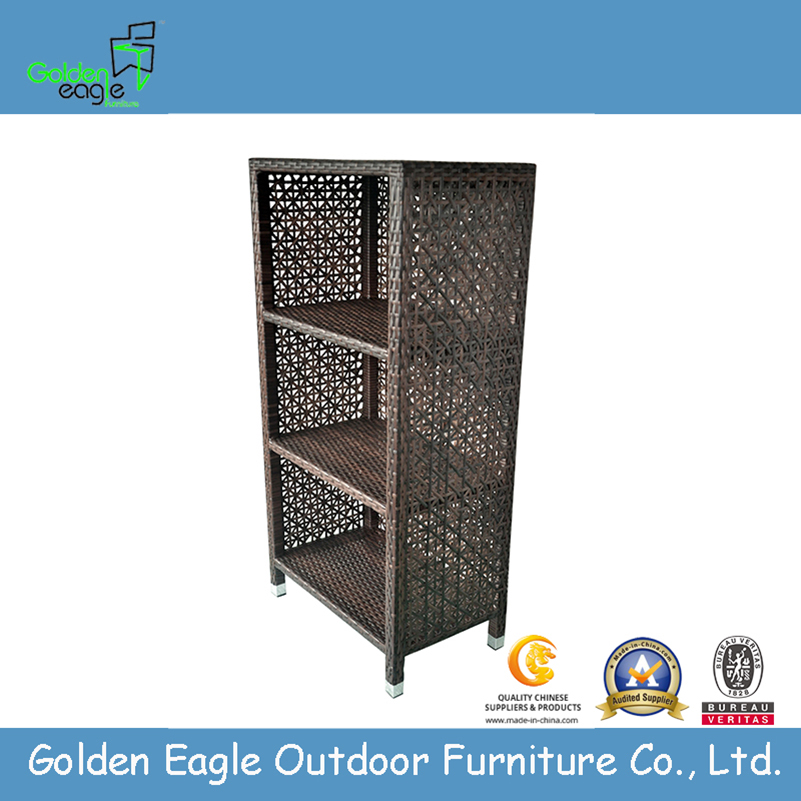 Aluminum Wicker Storage Bookshelf