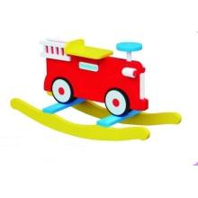 Hot Sale Chaise bébé en bois Fire Engine Rocker pour enfants et enfants