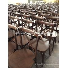 Cadeira de madeira cruzada para o mercado da UE