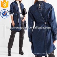 Patchwork Denim Jacket Fabricação Atacado Moda Feminina Vestuário (TA3034C)