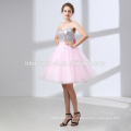 High waist short party dress Crystals ladies graduation dresses off the shoulder sleeveless union fashion wedding dress