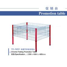 Suporte de exposição de promoção de fio de cromo de supermercado