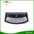 Infrared Sensor Control LED Lighting 8 LED Solar Power Smile Wall Light Outdoor Garden Lamp Brown and Black
