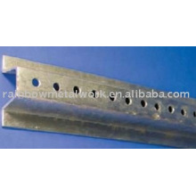 U Kanalpfosten verzinkter Stahl