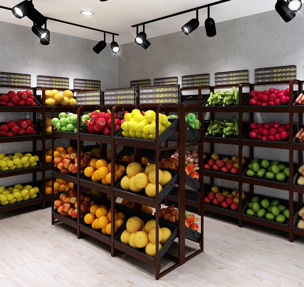Steel Single Sided Fruit Shelves