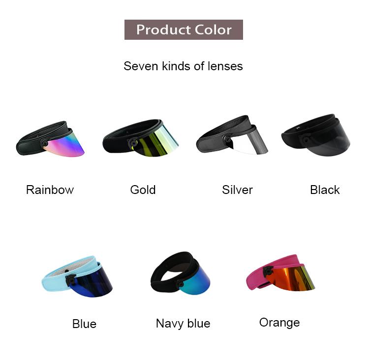 plastic sun visor cap hat supplier PVC uv protective sun visor hat factory