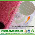 Tela no tejida antideslizante (PP + PVC) para alfombras
