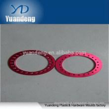 Custom CNC anodizado vermelho lavadoras de alumínio