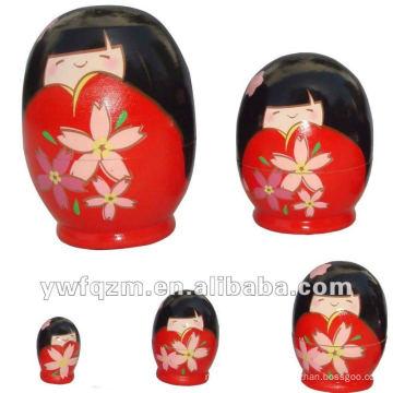 muñecas de anidación rusas personalizadas nuevas del diseño para la venta al por mayor