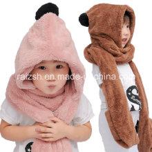 Plüsch Warm Herbst und Winter Hüte Schals Handschuhe für Kinder