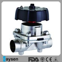 Type manuel de fin de soudure de valve de diaphragme sanitaire
