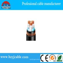 Kupfer XLPE gepanzertes Niederspannungskabel PVC ummanteltes Kabel schwarz
