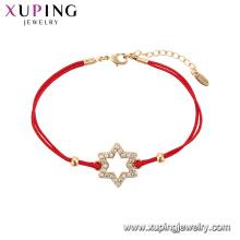 75548 Xuping горячая Распродажа популярные женщины позолоченные оригинальный дизайн красный канат Звезда форма Браслет