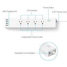 Protector de sobretensión Tuya Smart EU US Power Strip