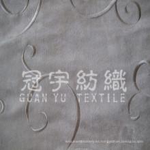 Tela de imitación de cuero de gamuza bordada para tela de sofá