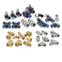 Compact One Touch Push In Pneumatic Fittings