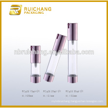15ml/20ml/30ml plastic cosmetic airless bottle,uv coating airless pump bottle,cosmetic airless cream bottle