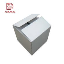 Fabricant de haute qualité pas cher blanc personnalisé boîte en carton ondulé