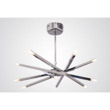 Wholesale Contemporary Chrome Metal Modern LED Chandelier Pendant Light
