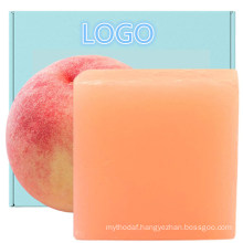 Wholesale Natural Peach Vc Cleansing Bar Soap for Women