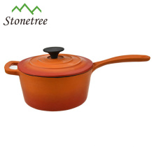 Die Cast Round Enamel Cast Iron Casserole With Handle Cookware Pots / Casserole Dish