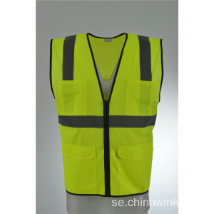 Hi Viz Mesh Safety Work Högsiktighet Klass 2 Vest